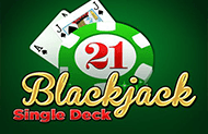 Играть Single Deck Blackjack P.S. онлайн